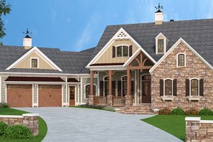 Dream House Plan - European Exterior - Front Elevation Plan #927-966