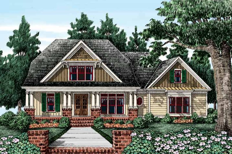 Craftsman Exterior - Front Elevation Plan #927-408