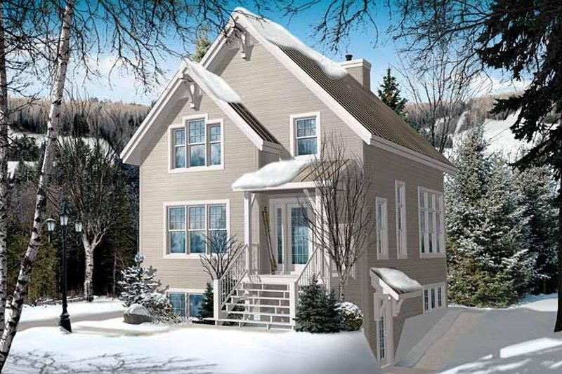 Architectural House Design - European Exterior - Front Elevation Plan #23-2491