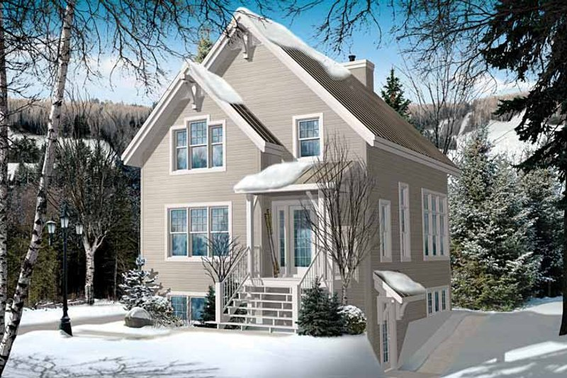 Home Plan - European Exterior - Front Elevation Plan #23-2491