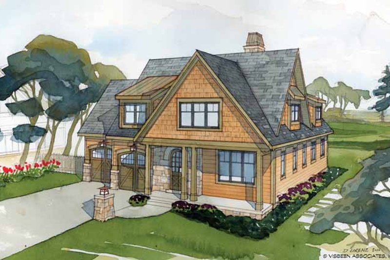 Craftsman Exterior - Front Elevation Plan #928-228