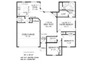 European Style House Plan - 3 Beds 2 Baths 1467 Sq/Ft Plan #424-407 Floor Plan - Main Floor Plan