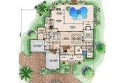 Southern Style House Plan - 4 Beds 6.5 Baths 6781 Sq/Ft Plan #27-477 Floor Plan - Main Floor Plan