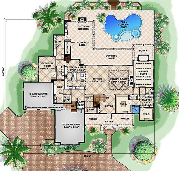 Southern Floor Plan - Main Floor Plan Plan #27-477