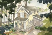 Craftsman Style House Plan - 2 Beds 1.5 Baths 1038 Sq/Ft Plan #928-92 Exterior - Front Elevation