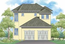 Southern Exterior - Rear Elevation Plan #930-360