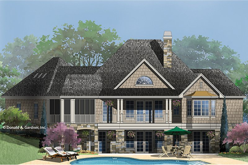 Country Exterior - Rear Elevation Plan #929-993 - Houseplans.com