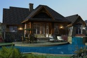 Craftsman Style House Plan - 3 Beds 2.5 Baths 2091 Sq/Ft Plan #120-162 Exterior - Rear Elevation