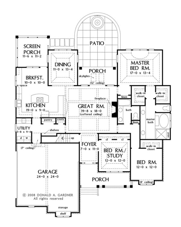 House Plan Design - Traditional Floor Plan - Main Floor Plan #929-925