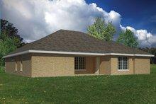 Adobe / Southwestern Exterior - Rear Elevation Plan #1061-21