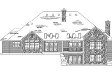 Home Plan - Traditional Exterior - Rear Elevation Plan #945-29