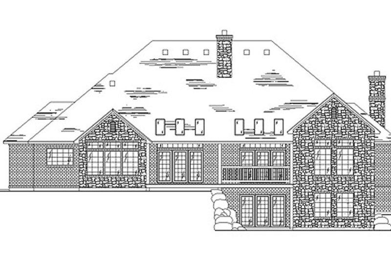Traditional Exterior - Rear Elevation Plan #945-29 - Houseplans.com