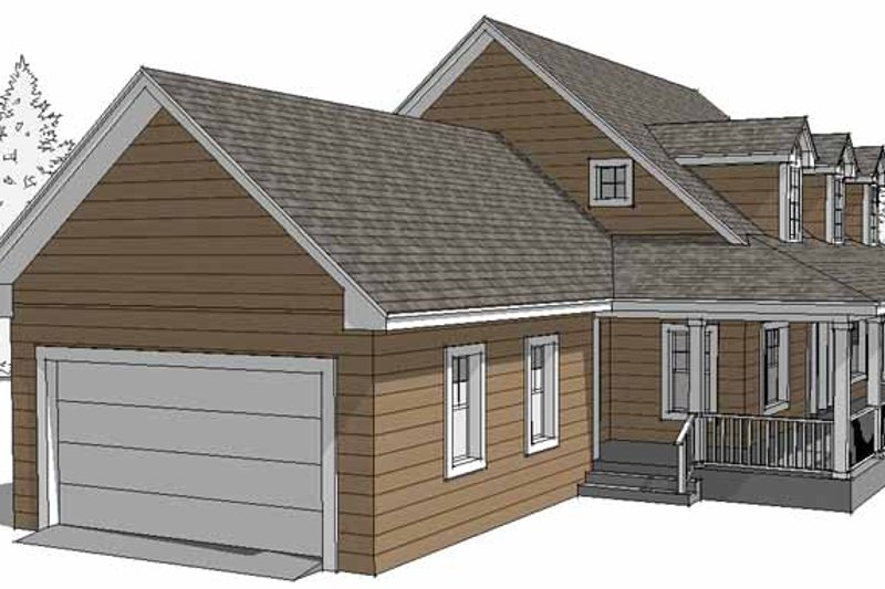 Country Exterior - Front Elevation Plan #64-293 - Houseplans.com