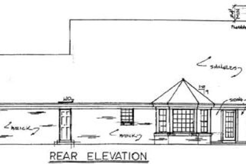 Country Exterior - Rear Elevation Plan #34-152 - Houseplans.com