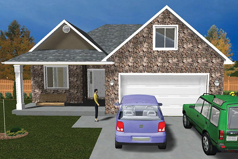 Ranch Exterior - Front Elevation Plan #1060-5