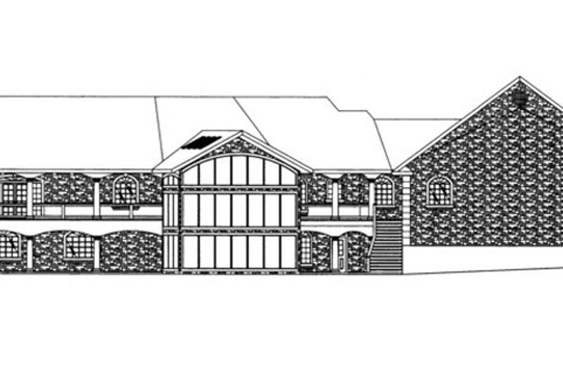 Traditional Exterior - Rear Elevation Plan #117-831 - Houseplans.com
