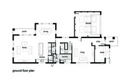 Modern Style House Plan - 4 Beds 2.5 Baths 3584 Sq/Ft Plan #496-18 Floor Plan - Main Floor Plan
