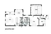 Modern Style House Plan - 4 Beds 2.5 Baths 3584 Sq/Ft Plan #496-18 Floor Plan - Main Floor Plan