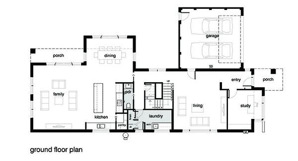 Modern House Plan First Floor by Leon Meyer