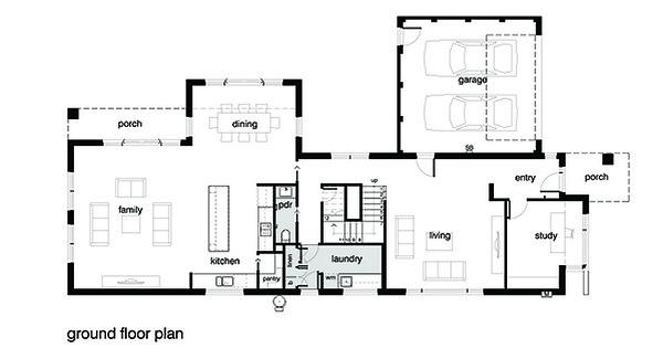 Modern House Plan First Floor by Leon Meyer