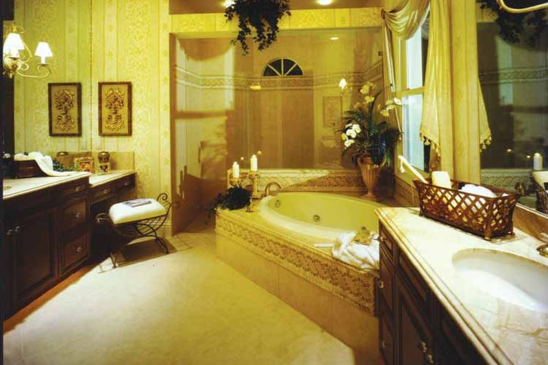 Mediterranean Interior - Bathroom Plan #1017-3 - Houseplans.com