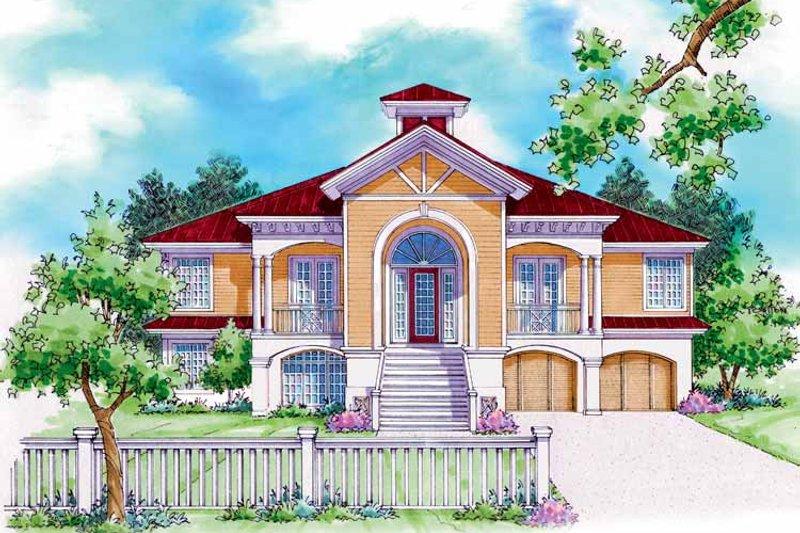 Architectural House Design - Mediterranean Exterior - Front Elevation Plan #930-162