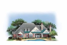 Architectural House Design - Craftsman Exterior - Rear Elevation Plan #929-848
