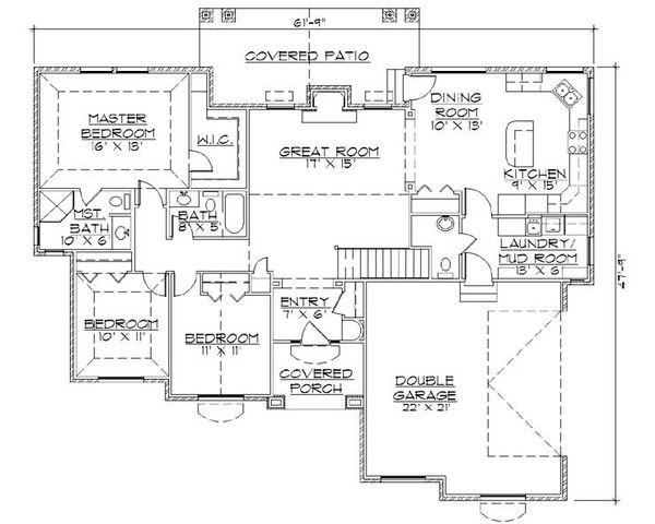 House Plan Design - Ranch Floor Plan - Main Floor Plan #5-242