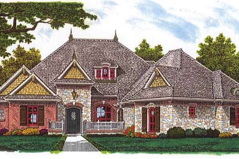 European Exterior - Front Elevation Plan #310-1239