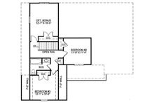 Colonial Floor Plan - Upper Floor Plan Plan #119-258