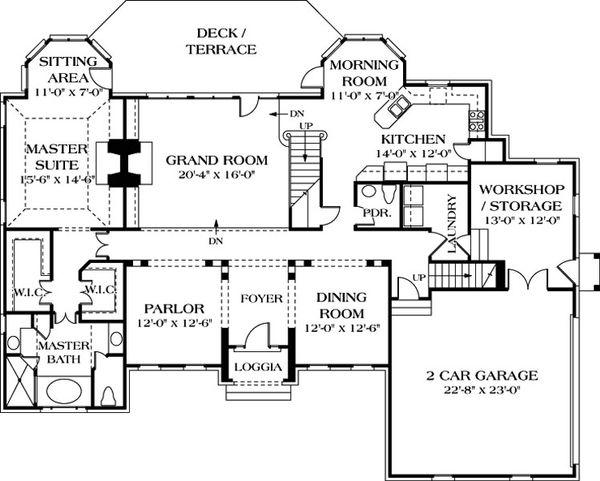 Home Plan - Traditional Floor Plan - Main Floor Plan #453-38