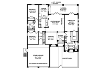 Mediterranean Floor Plan - Main Floor Plan Plan #1058-5