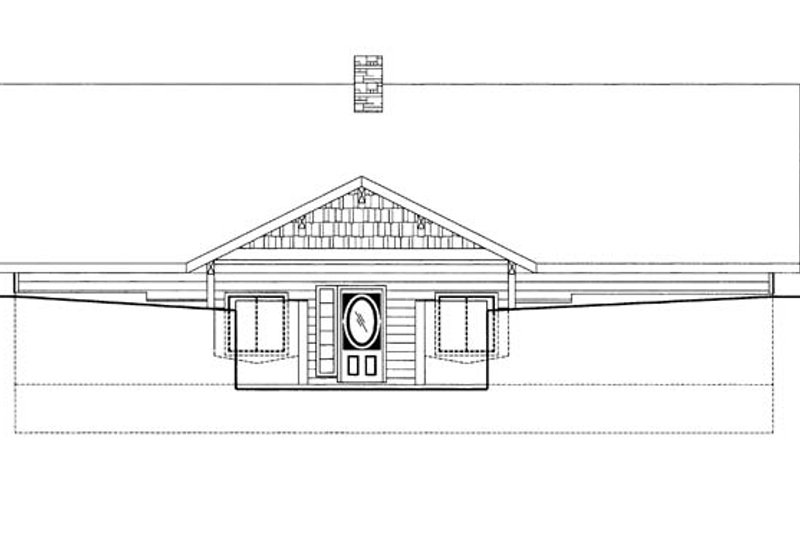 Contemporary Exterior - Front Elevation Plan #117-863 - Houseplans.com