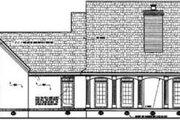 Mediterranean Style House Plan - 4 Beds 4 Baths 3098 Sq/Ft Plan #45-243 Exterior - Rear Elevation