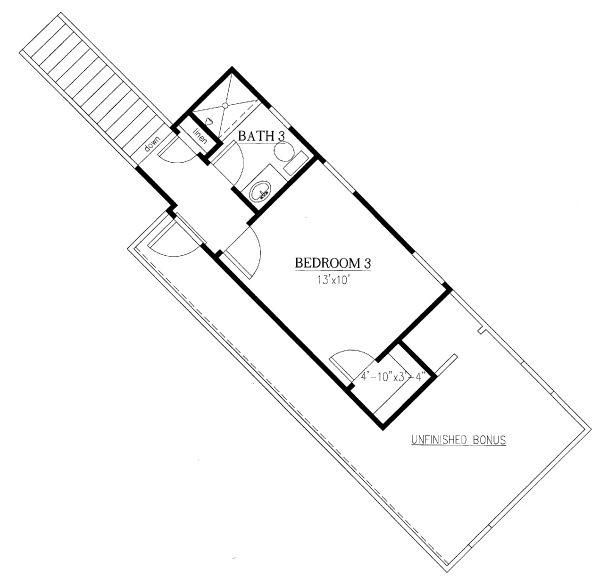 Traditional Floor Plan - Upper Floor Plan Plan #437-106