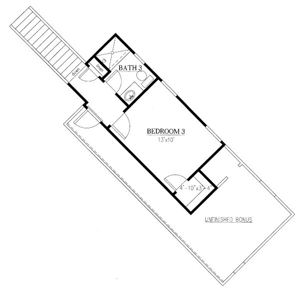 Traditional Floor Plan - Upper Floor Plan Plan #437-106
