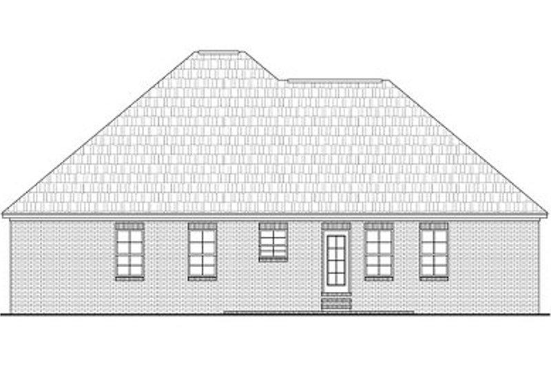 Traditional Exterior - Rear Elevation Plan #21-215 - Houseplans.com