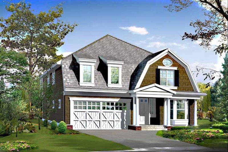 Craftsman Exterior - Front Elevation Plan #132-420