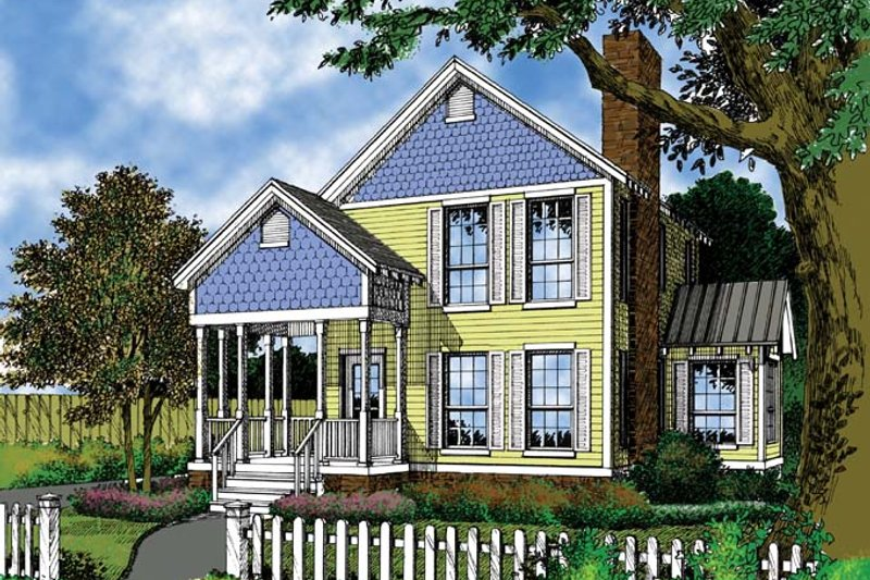 Victorian Exterior - Front Elevation Plan #417-578