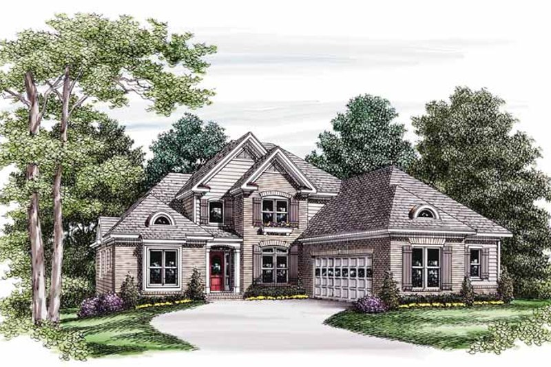 House Plan Design - Traditional Exterior - Front Elevation Plan #927-583