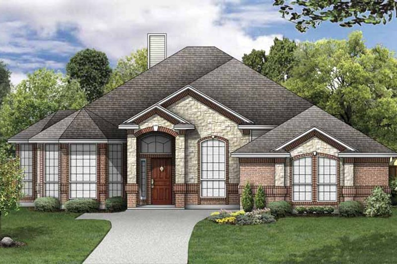 Mediterranean Exterior - Front Elevation Plan #84-769
