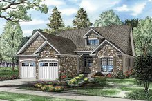 Architectural House Design - Craftsman Exterior - Front Elevation Plan #17-3337