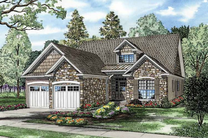 Craftsman Exterior - Front Elevation Plan #17-3337