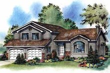 House Blueprint - Traditional Exterior - Front Elevation Plan #18-258