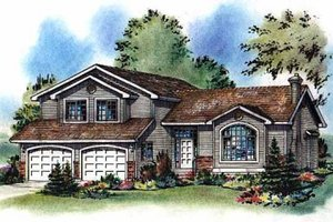 Architectural House Design - Traditional Exterior - Front Elevation Plan #18-258