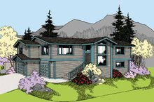 House Plan Design - Contemporary Exterior - Front Elevation Plan #60-1010