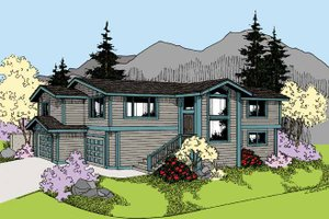 Dream House Plan - Contemporary Exterior - Front Elevation Plan #60-1010