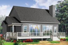 House Plan Design - Cottage Exterior - Rear Elevation Plan #23-2711
