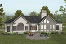 Dream House Plan - Traditional Exterior - Rear Elevation Plan #56-684