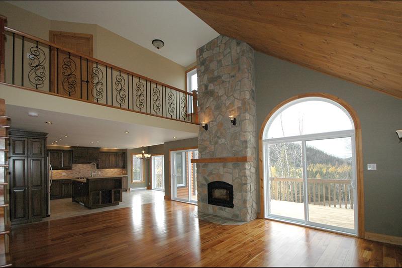 Sitting Room - 1600 square foot Craftsman Cabin